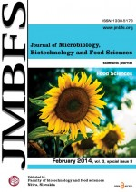 JMBFS Issue - February 2014, vol. 3, special issue 3 (Food Sciences)