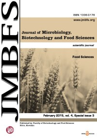 JMBFS Issue - February 2015, vol. 4, special issue 3 (Food Sciences)