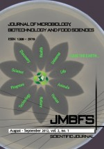 JMBFS Issue - August – September 2012, vol. 2, no. 1