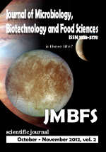 JMBFS Issue - October – November 2012, vol. 2, no. 2
