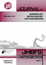 JMBFS Issue - Special issue 1 – part B 2013, vol. 2, special issue 1 part B