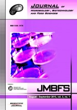 JMBFS Issue - August – September 2013, vol. 3, no. 1