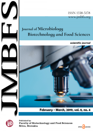 JMBFS Issue - February – March, 2019, vol. 8, no. 4
