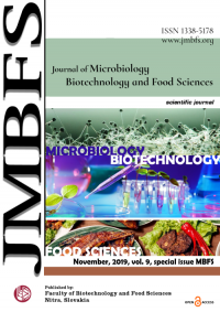 JMBFS Issue - November 2019, vol. 9, Special issue (Microbiology-Biotechnology-Food Sciences)
