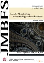 JMBFS Issue - August – September, vol. 10, no. 1