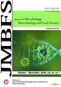 JMBFS Issue - October – November, 2020, vol. 10, no. 2